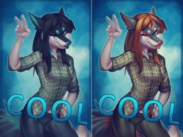 Badge Commish Cool by vagab0nda