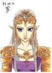 Princess Zelda Portrait - Colored version by YuukoScarlet