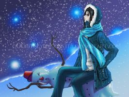 I'm Done Playin' in The Snow - Itachi by oOGreenEyedMonster