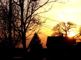 suburban sunset by miracledrug