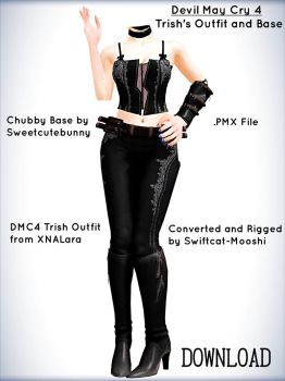Devil May Cry 4 Trish Base Outfit DL by swiftcat-mooshi