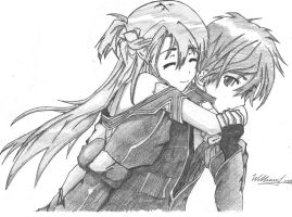 Kirito and Asuna by WilliXL