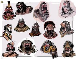 Warrior faces by jesseaclin