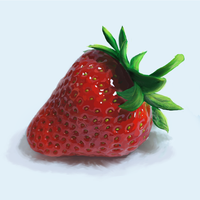 Strawberry in hiperrealism. by RainOfFantasies