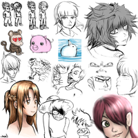 New Tablet Random Sketches by HealTheIll