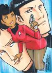 Star Trek sketch card by KidNotorious