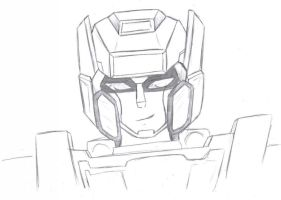 TF - Sideswipe Head Sketch by BeeLovesCade
