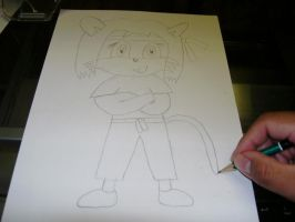 Me drawing Laguna in tracksuit by Esteban1988