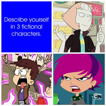 Describe Yourself in 3 Fictional Characters by JohnMarkee1995