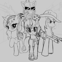 Fallout Equestria Shadowbox Mock-up Sketch by The-Paper-Pony