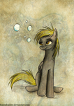 Derpy and the bubbles by FoxInShadow