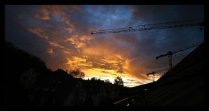 Sunset in Zurich by oceanbased