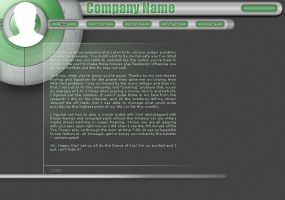 web layout psd by thinsoldier