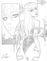 Morrigan and Lilith sketch by Colaffee