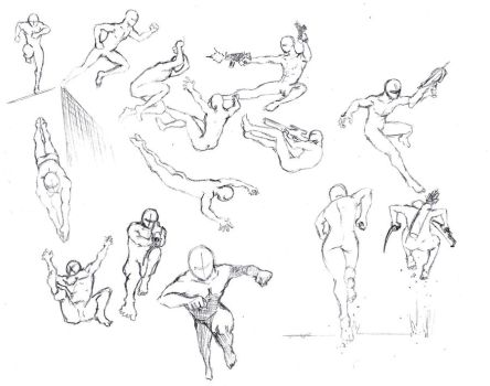 Action poses 4 leaping, diving by shinsengumi77
