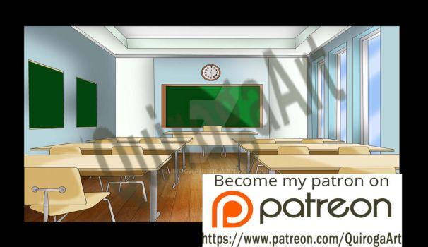 Classroom background by QuirogaArt by QuirogaArt