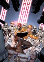 Luke and the troopers by juan7fernandez