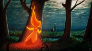 Flame Princess in forest by SmilePS