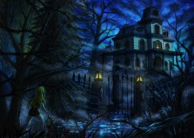 The arrival to Phantom Manor by xKyrillx