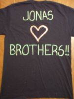 Jonas Brothers Shirt -back- by KoreanBoyBandFan215
