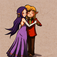 Link and Hilda Dancing by Zeepla