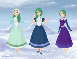 True Princesses Soarin's outfits by StarQueen22
