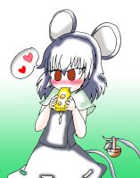 Nazrin and Cheese by Rokku-D