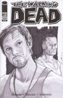 Daryl and Merle Dixon Sketch cover by shinlyle