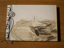 Sparrow japanese bookbinding by LayraBlack