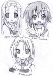 LUCKY STAR Characters 2 by AkatsukiFan505