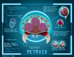 Hovering organism: METROID by Samolo