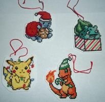 Pokemon Christmas Ornament Cross-Stitch by Isobel-Theroux