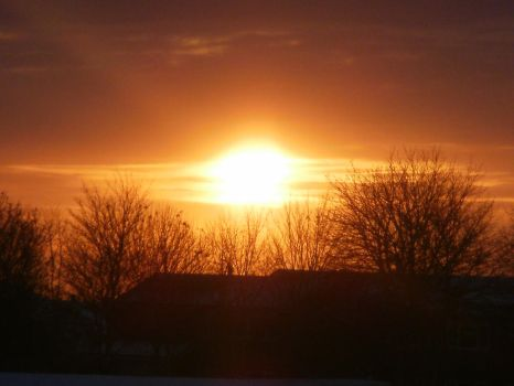 sunset over the snow by chels2009smile