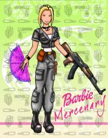 Barbie mercenary poster by chaos-dark-lord