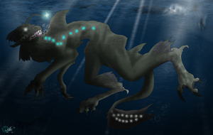 sea monster by petplayer976