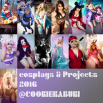 2016: Cosplay Projects by CookieKabuki
