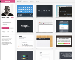 Dribbble Profile Redesign by janvanlysebettens