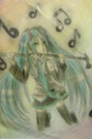Hatsune Miku by kitcatastrophic