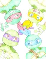 ^^ 4 Turtles, 4 Brothers... ^^ by Codename-Turtlefairy