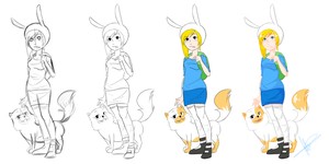 Process: Fionna and Cake by ask-finnandfionna