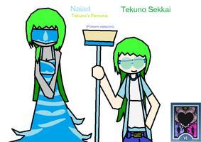 Tekuno and her Persona Naiad by PMiller1