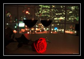 Roses and Wine by martinshiver