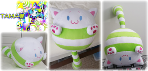 Tama-cat Plushie by Diffeomorphism