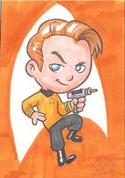 Captain James T Kirk Art Card by kevinbolk