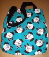 Glasses Wearing Dog Print Bag by 13anana