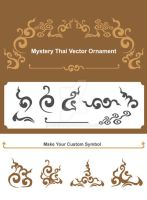 Mystery Thai Vector Ornament by ninninny