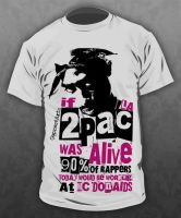 2Pac T-shirt by LA-unit