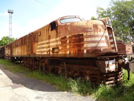 Abandoned GE 2-C+C-2 ''v8'' #FEPASA by SD40-2