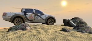 The car and the desert - 3D by IgoR0899