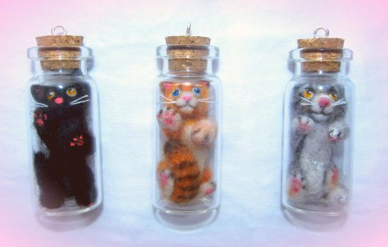 Cats in jars by Deygira-Blood